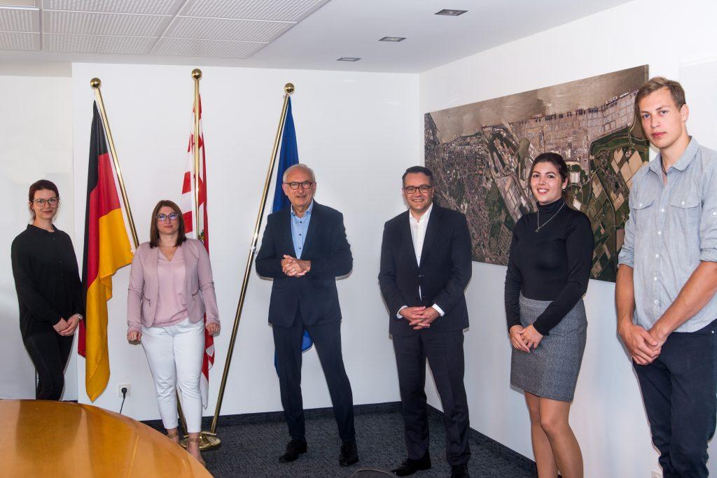 Das Team des IGB zu Besuch beim Staatsrat Hr. Cordßen-Ryglewski